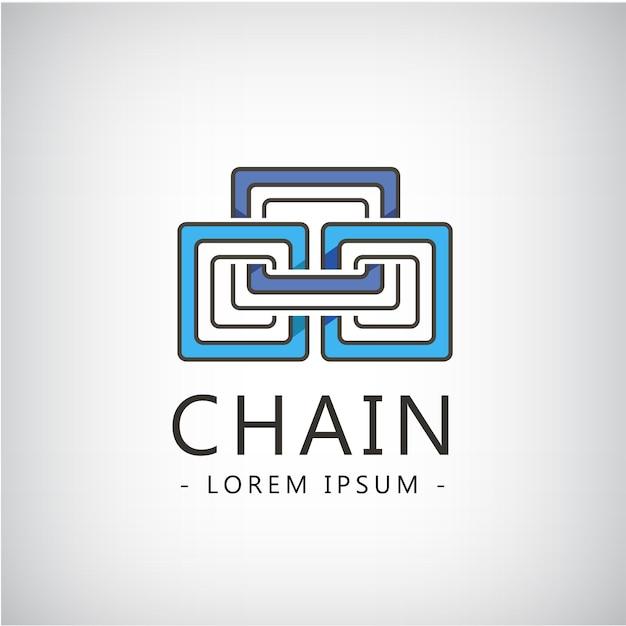 抽象チェーン3部、ロゴ分離。ビジネスアイデンティティ、創造的なアイデア Premiumベクター