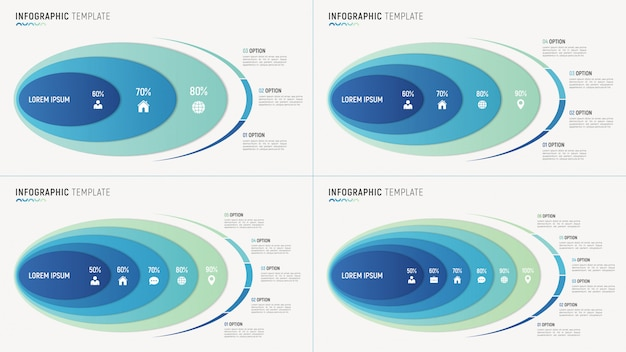 Abstract chart infographic templates for data Premium Vector