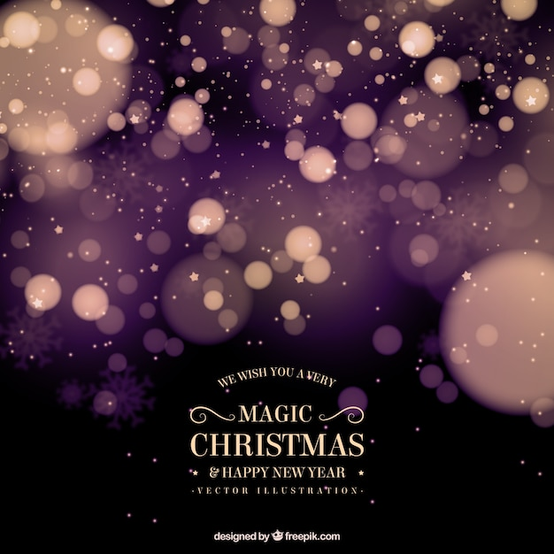 Abstract christmas background with bokeh effect Vector | Free Download