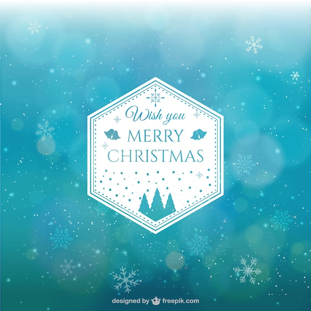 Abstract Christmas background with\ snowflakes