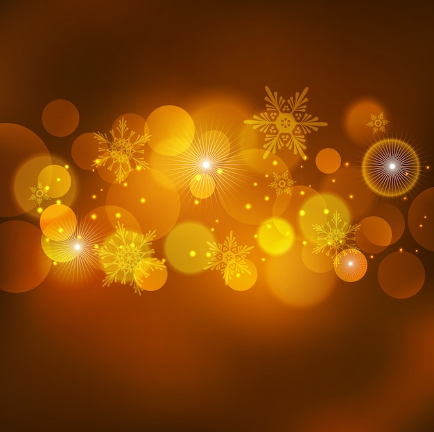Abstract christmas light orange background Premium Vector