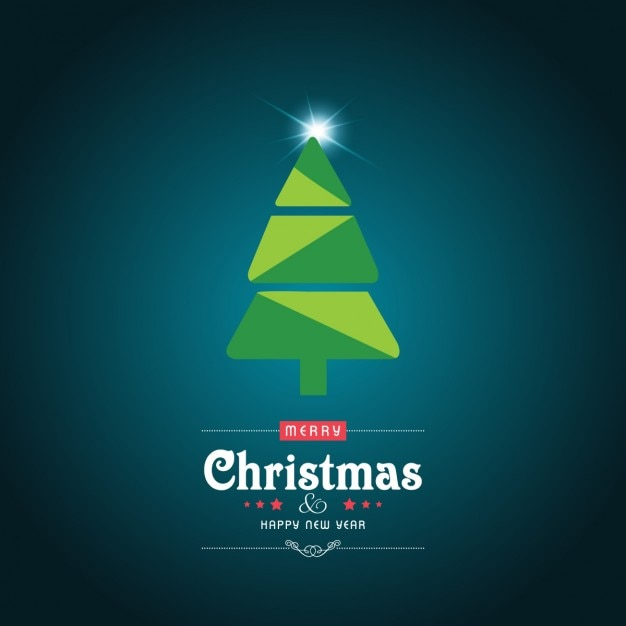 Abstract christmas tree background Free Vector