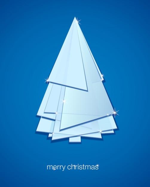 抽象的なクリスマスツリー。イラスト冬の背景。 Premiumベクター