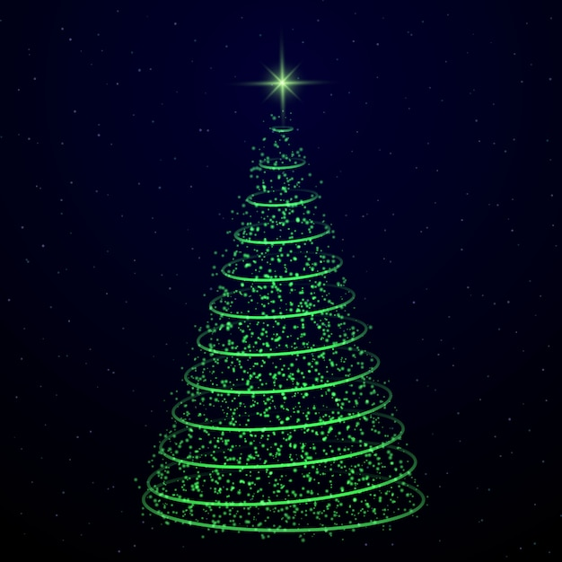 Christmas Tree Transparent Background.Abstract Christmas Tree On Transparent Background Symbol Of