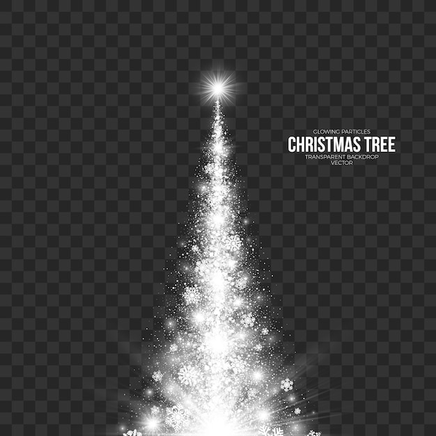 Abstract christmas tree transparent background Premium Vector