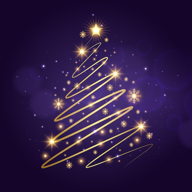 抽象的なクリスマスツリー 無料ベクター