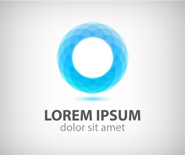 抽象的な円の色のループアイコン、分離されたロゴ Premiumベクター
