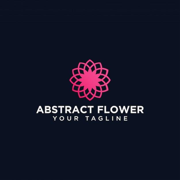 Abstract circle flower logo design template Premium Vector