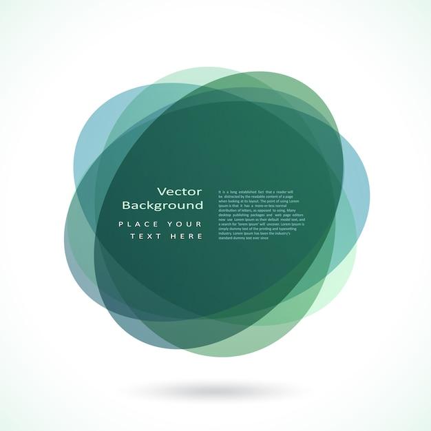 抽象的な円のフレーム 無料ベクター