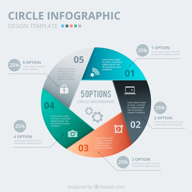 Abstract Circle Infographic Vector Free Download