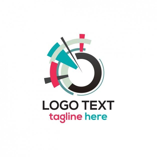 Abstract circle logo  Free Vector
