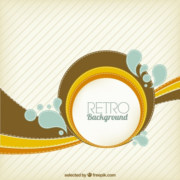 Abstract circle retro background Vector | Free Download