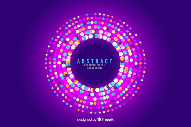 Abstract circles background with round garland colours Free Vector