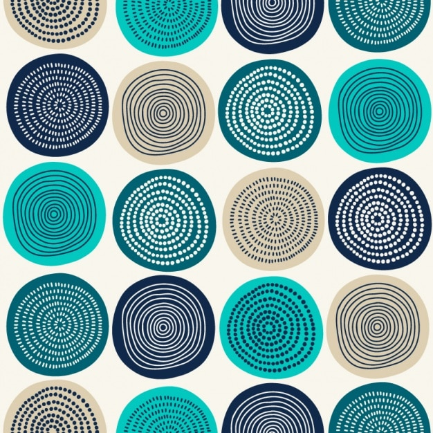 Abstract circles pattern design Premium Vector