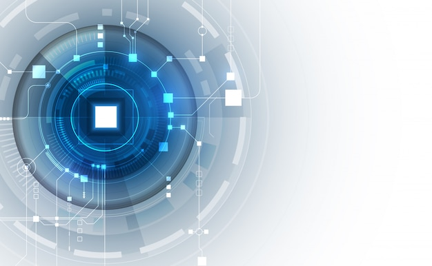 Abstract circuit networking blockchain background Premium Vector