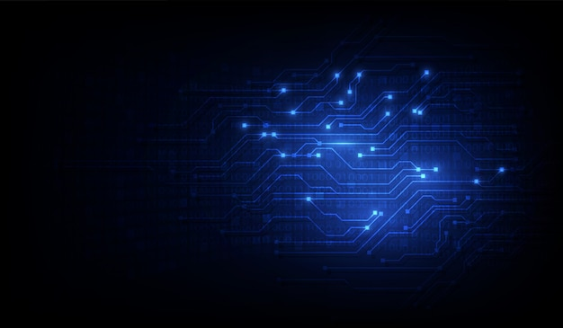 Abstract circuit networking blockchain concept background Premium Vector