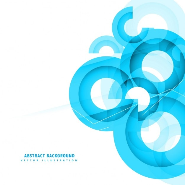 Abstract circular background with polygonal shapes Free Vector