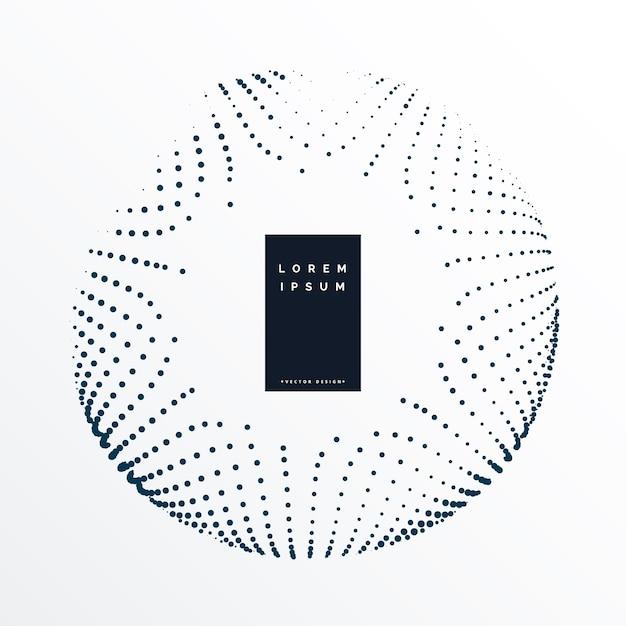 Abstract circular dots background design Premium Vector