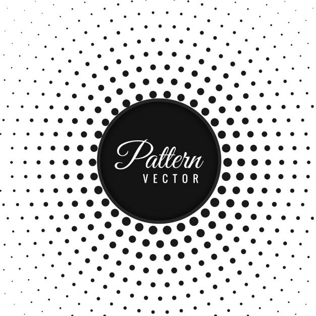 Abstract circular dots pattern background Free Vector