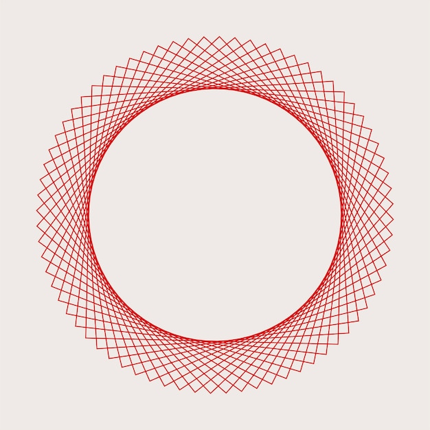 추상적 인 원형 기하학적 요소 벡터 무료 벡터