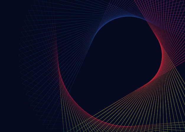 Abstract circular geometric element vector Free Vector