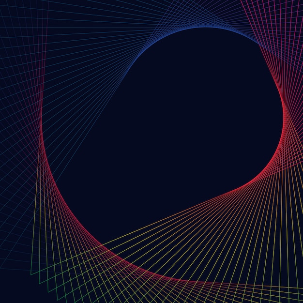 Abstract circular geometric element Free Vector