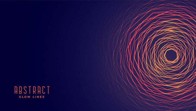 Abstract circular glowing lines background Free Vector