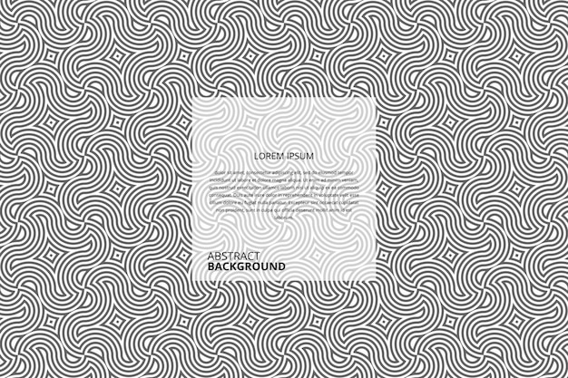 Abstract circular stripes pattern Premium Vector
