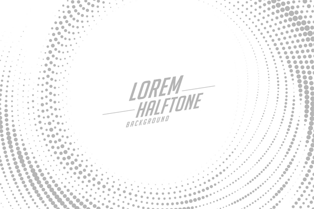 Abstract circular swirl style halftone effect background Free Vector