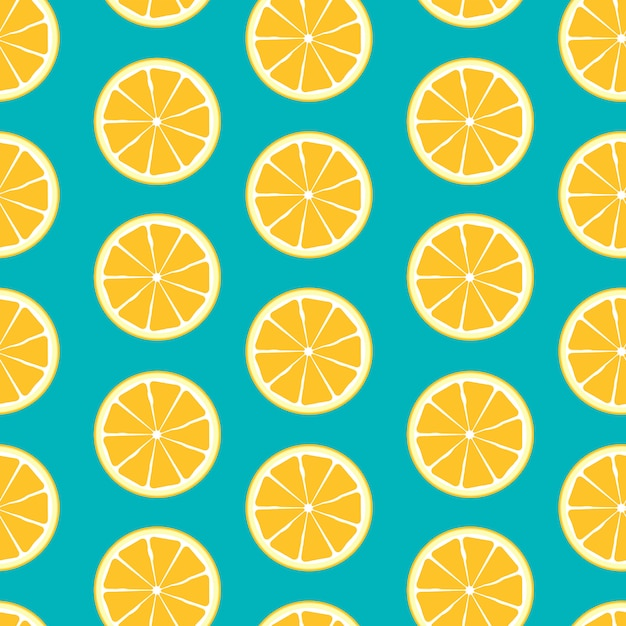 Abstract citrus seamless pattern background Premium Vector
