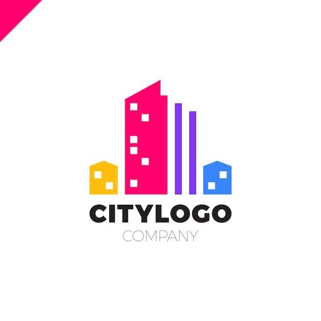 Abstract city building logo design concept symbol icon of for Apartment logo design