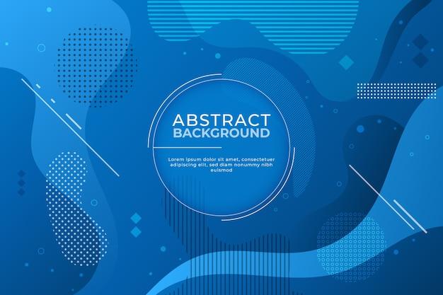 Абстрактный классический синий фон в стиле мемфиса Бесплатные векторы