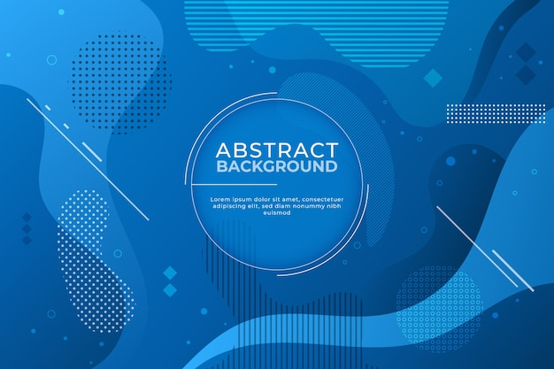 Abstract classic blue background in memphis style Free Vector