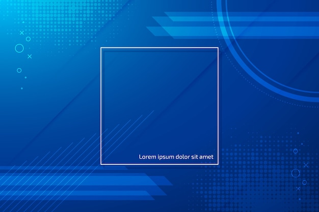 Abstract classic blue background theme Free Vector