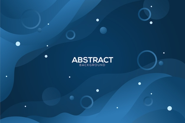 Abstract classic blue background with circles Free Vector
