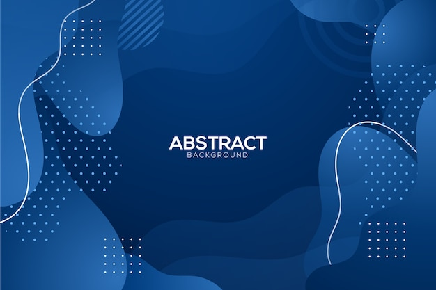 Abstract classic blue background with dots Free Vector
