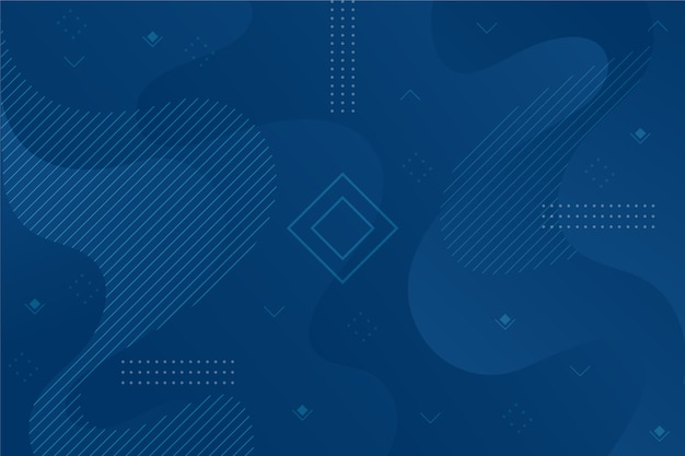 Abstract classic blue background with geometric shape Free Vector
