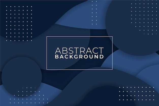 Abstract classic blue background with memphis Free Vector