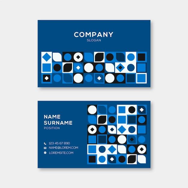 Абстрактный классический синий шаблон визитной карточки Бесплатные векторы