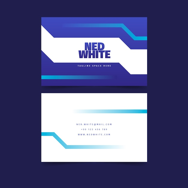 Abstract classic blue business card Free Vector
