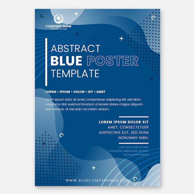 Abstract classic blue flyer template Premium Vector