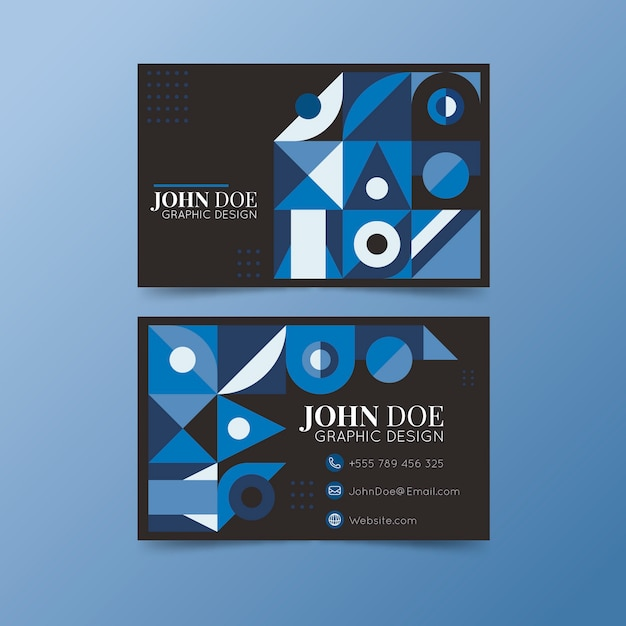 Abstract classic blue theme for business card Free Vector