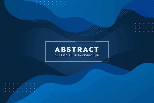 Abstract classic blue wallpaper concept Free Vector
