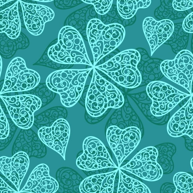 Abstract clovers pattern Free Vector