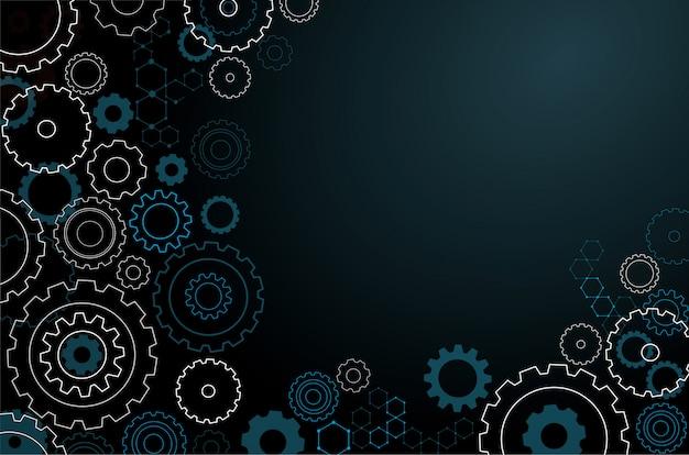 Abstract cogs wheel background Premium Vector