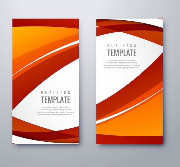 Abstract coloful wavy banners set vector illustration Premium Vector