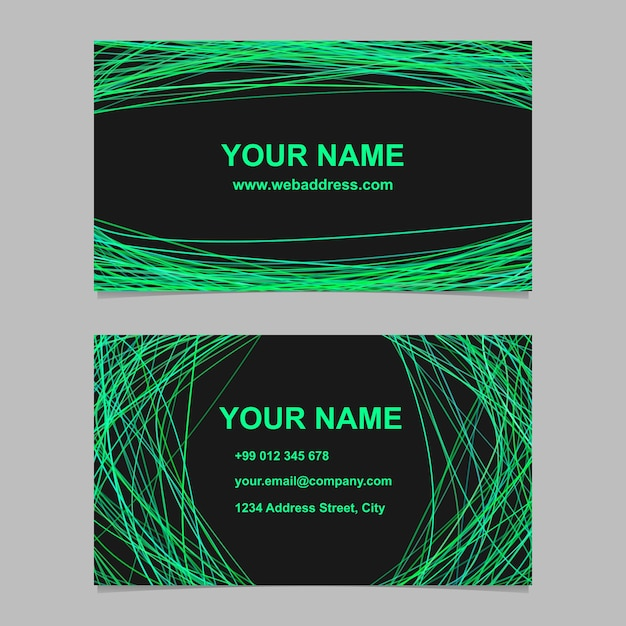 Abstract color business card template design set vector identity abstract color business card template design set vector identity design with curved lines on black reheart Gallery