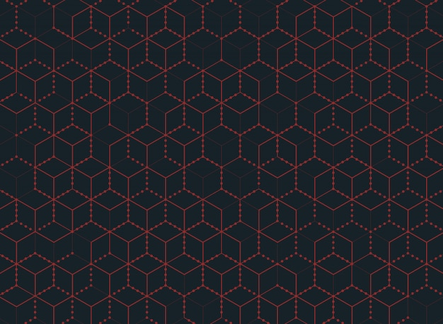 Abstract color hexagon technology of modern background. Premium Vector