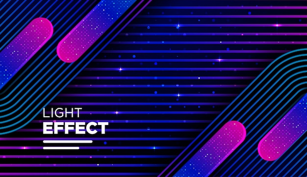 Abstract color line with gradient and light effect Premium Vector