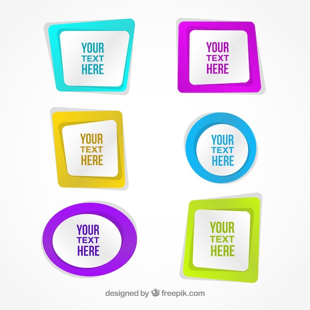 Abstract colored frames Vector | Free Download